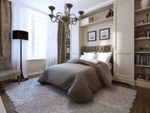 Le design, le look de bon goût tout ça reunit dans cette chambre à coucher pour y passer une bonne nuit de sommeil. Des rideaux parfaits avec une literie confortable c'est le bonheur. De tout sur mesure chez PAJA Couturier.