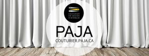 Paja Couturier est un atelier de couture de confection sur mesure spécialisé dans la décoration d'interieur. Coussins, draperie, literie, etc. tout pour votre décor.
